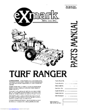 Exmark Turf Ranger Manuals