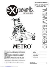 Exmark Metro Manuals