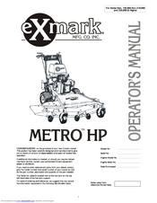 Exmark Metro HP MHP4815KC Manuals