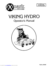 Exmark VIKING HYDRO Manuals