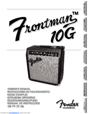 Fender Frontman 10G Manuals