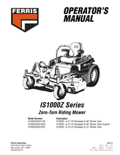 Ferris IS1000ZKA2148CE Manuals