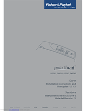 Fisher & Paykel Smartload DGGX2 Manuals