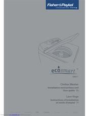 Fisher & Paykel ecosmart GWL11 Manuals