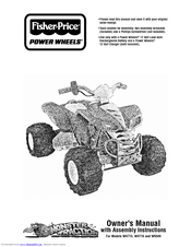 Fisher-price POWER WHEELS W4715 Manuals