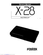 Fostex X-28 Manuals