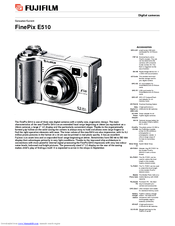 Fujifilm FinePix E 510 Manuals