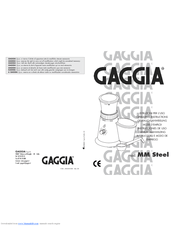 Gaggia MM STEEL Manuals