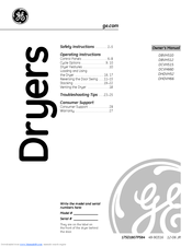 Ge DHDVH52 Manuals