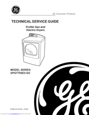 Ge Profile Harmony DPGT750GC Manuals