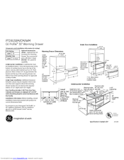 Ge Profile PTD915 Manuals