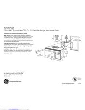 Ge Profile Spacemaker JVM2070SK Manuals
