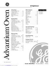 Ge Advantium SCA2001 Manuals