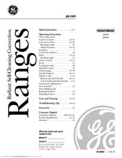 Ge Profile JB968 Manuals