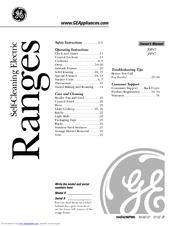 Ge JSP47 Manuals