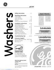 Ge WCVH6260 Manuals