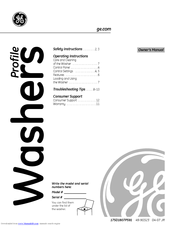Ge Profile WPRE6100G Manuals