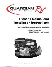 Generac Power Systems Guardian RV IMPACT-36 plus II Manuals