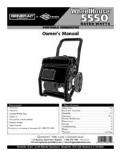 Generac Power Systems WHEELHOUSE 1646-3 Manuals