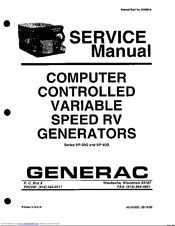 Generac Power Systems NP-30G Series Manuals
