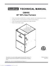 Goodman GMH951155DXA Manuals