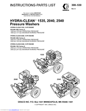 Graco Hydra-Clean 2540 Manuals