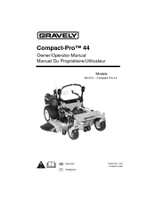 Gravely COMPACT-PRO 991072 Manuals