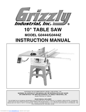 Grizzly G0444z Parts