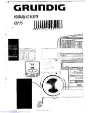 Grundig CDP75/B Manuals