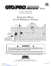 Gto PRO 2000 Series Manuals