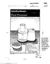 Hamilton Beach 70710 Manuals