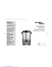 Hamilton Beach BrewStation 40540 Manuals