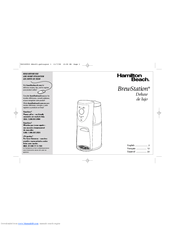 Hamilton Beach BrewStation Deluxe 47454H Manuals