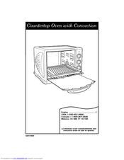 Hamilton Beach Countertop Oven with Convection Manuals