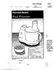 Hamilton Beach 70560 Manuals