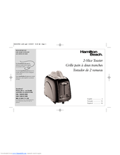 Hamilton Beach 2-Slice Toaster Manuals
