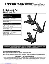Pittsburgh Automotive 68049 Manuals