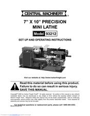 Central Machinery Belt Sander Assembly