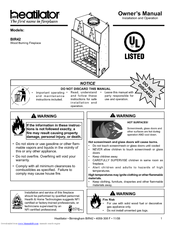 Heatilator Birmingham BIR42 Manuals