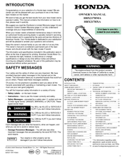 Honda HRX217HXA Manuals