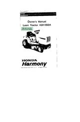Honda Harmony H2013SDA Manuals