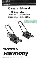 Honda Harmony HRM215HXA Manuals