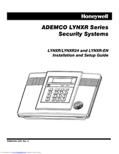 Honeywell ADEMCO LYNXR Series Manuals