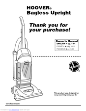 Hoover Bagless Upright Vacuum Cleaner Manuals