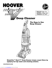 Hoover SteamVac Bagless Vacuum Cleaner Manuals