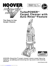 Hoover SteamVac Turbo POWER Carpet Cleaner with Auto Rinse