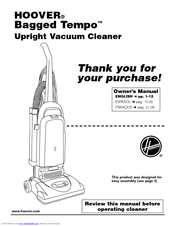 Hoover Tempo Bagged Tempo Upright Vacuum Cleaner Manuals