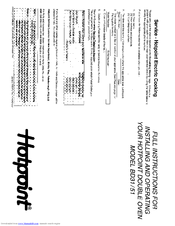 Hotpoint BD31 Manuals