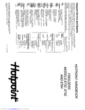 Hotpoint 8764 Manuals