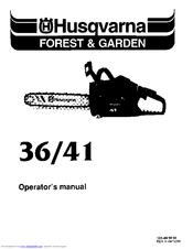 Husqvarna 41 Manuals